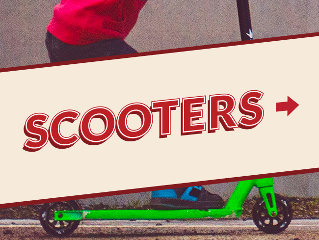 Scooter Text Banner
