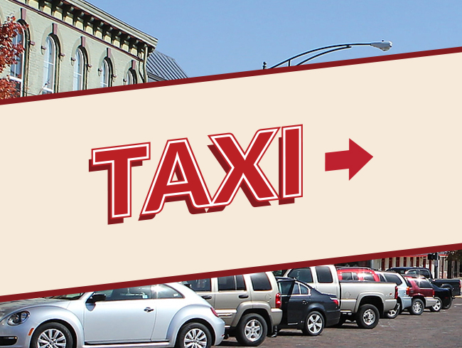 Taxi Text Banner